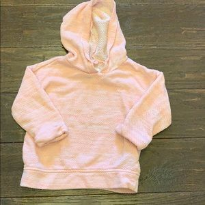 Old navy pink super soft quilted hoodie 3T EUC